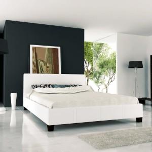 Betten kaufen-Polsterbett Miami 180x200 inkl. Lattenrost Doppelbett Ehebett Bett (Weiß)