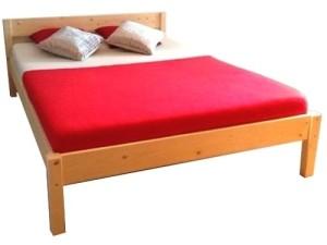 Betten kaufen Futonbett mit Kopfteil Holz Bett massiv Doppelbett 90 100 120 140 160 180 200 x 200cm, Hergestellt in Deutschland (180x200cm)